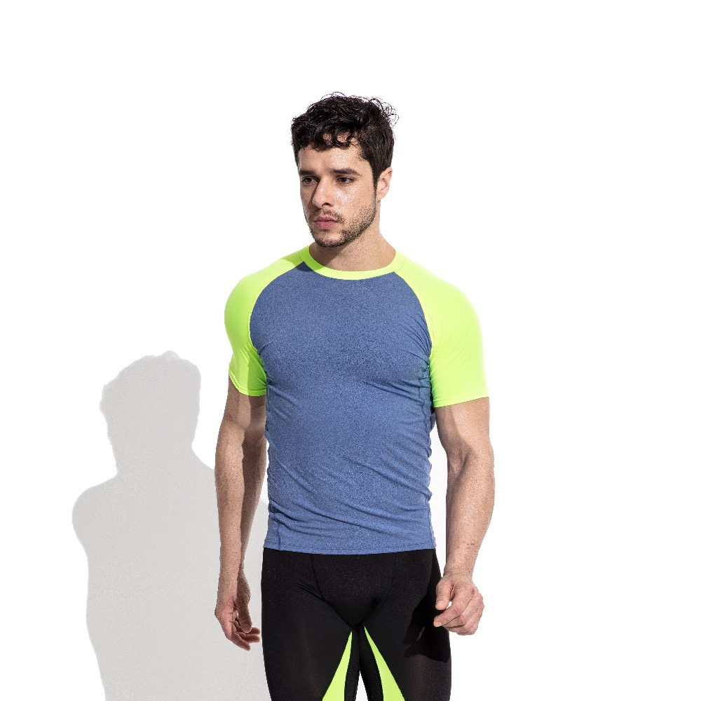 New Arrival Mens Tight T Shirts Sports Fitness Gym Thin Short