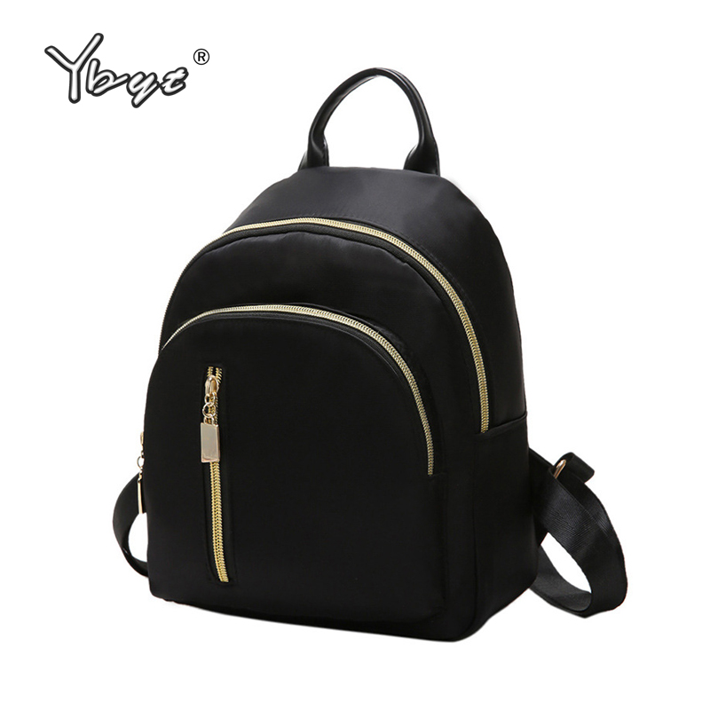 YBYT brand new nylon casual women rucksacks preppy style black small bags girls student school bookbags ladies travel backpacks new brand designer women fashion backpacks simple koran style school for teenager girls ladies shoulder bags black