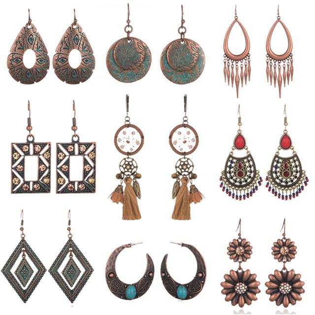 Bohemian Acrylic Beads Tassel Earrings