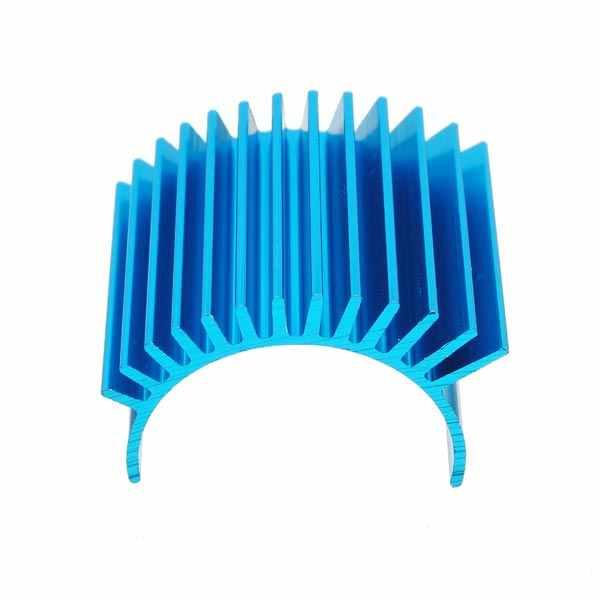 1 pieza CNC aluminio 540 550 3650 Motor disipador de calor disipador para 1/10 Tamiya HSP coche camión Color azul