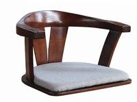 Ahşap Sandalye ile Hiçbir Bacaklar Çift Kol Katı Yapılır Bent Ahşap Kül Japon Zemin Bacaksız Sandalye Oturma Odası Mobilya koltuk