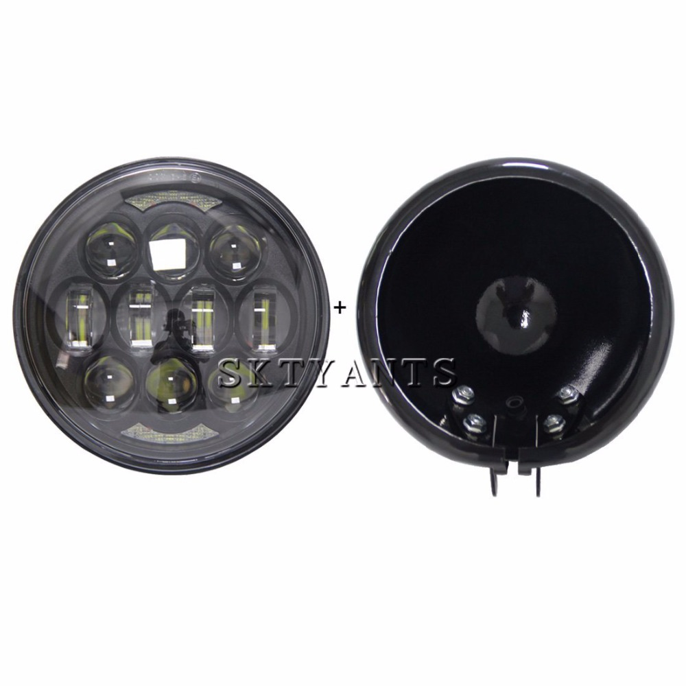 Harley Motor Accessories 5 3/4'' Round led Projector headlight 80W 5.75 INCH Driving lights for Motorcycle Harley Davidson цена