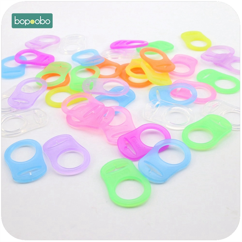 Bopoobo BPA бесплатно 50 шт. ребенок силиконовые прорезывания зубов младенца bpa бесплатно mam пустышка chain соску клип разноцветными бусинами