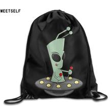 SAMCUSTOM alien 3D Print Shoulders Bag Fabric Backpack men and women Port Drawstring Travel Shoes Dust Storage Bags(China)