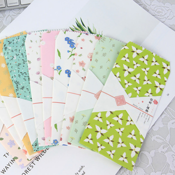 10Pcs/pack Hello plants Envelope Paper Envelope Gift Craft Envelopes for Wedding Letter Post Stationery a pack of summer fresh plants paper bookmark 30 pieces different design great gift