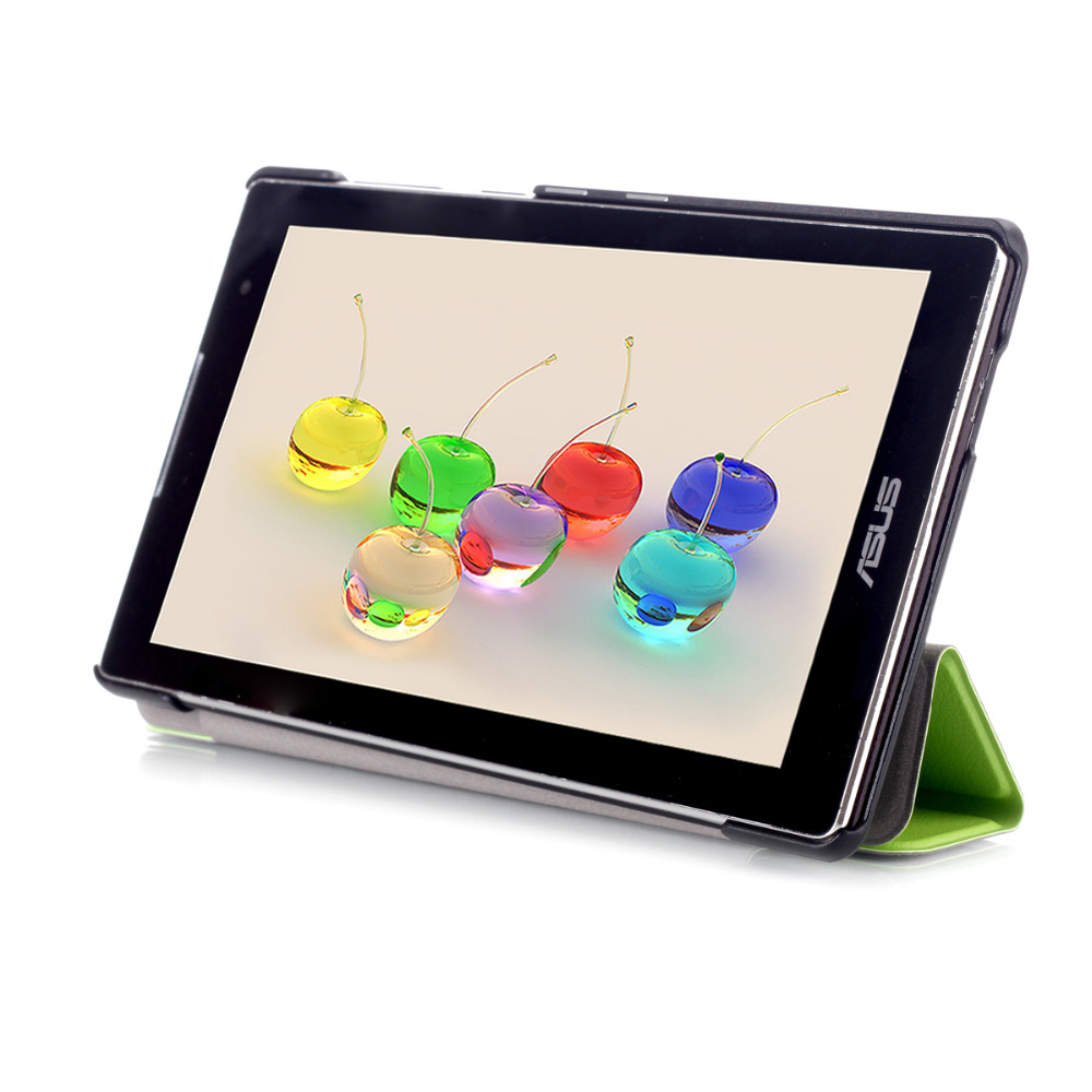 PU Leather Stand Case Cover For Asus Zenpad C 7.0 Z170 Z170C Z170CG Z170MG 7 Tablet + 2 Pcs Clear Screen Protector cover case for asus zenpad s z580 c 8 smart protective cover pu leather zenpad s 8 0 z580ca z580c 8 inch tablet pc stand cases