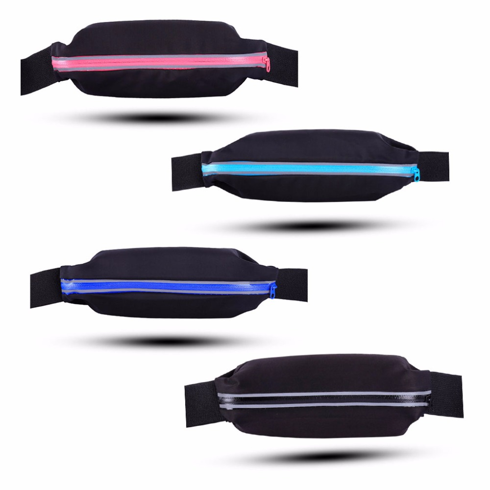 Sports Fanny Pack Belly Reflective Waist Bum Bag Fitness Running Jogging Cycling Belt Pouch Running Bags
