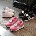 2017 nova primavera menino respirável sports shoes menina confortável moda casual shoes infantil anti-skid running shoes eur 26-36