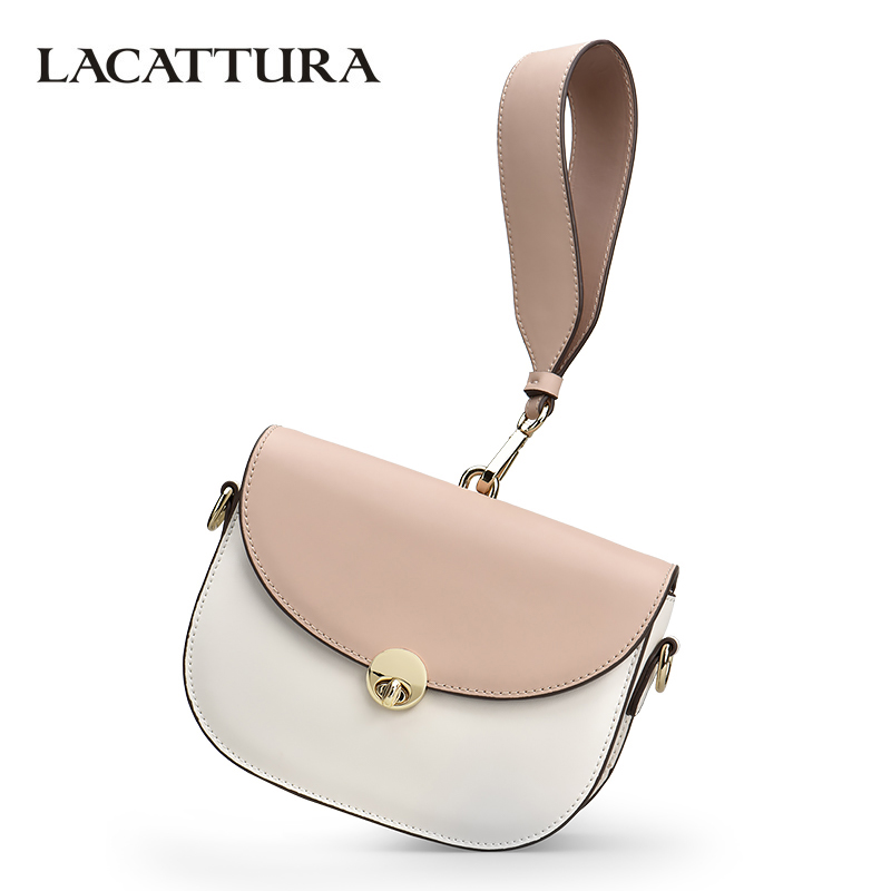 LACATTURA Women Messenger Bag Luxury Wristlets Leather Shoulder Bags Lady Designer Clutch Summer Crossbody Bag for Women Handbag lacattura small bag women messenger bags split leather handbag lady tassels chain shoulder bag crossbody for girls summer colors