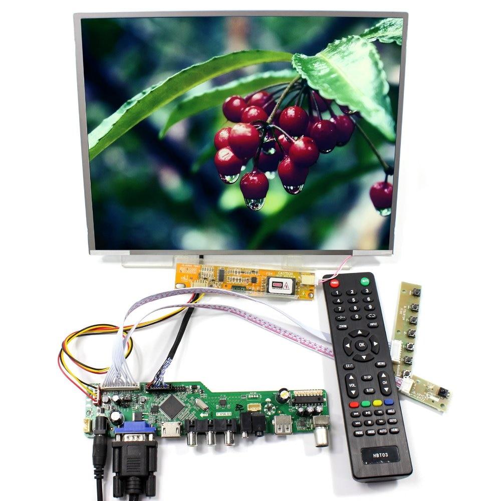 TV HDMI VGA AV USB AUDIO LCD LCD Controller Board+12.1