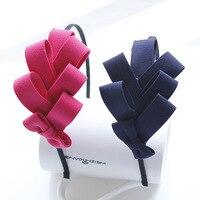 Hair jewelry Korean version of the multi-layer fabric bow hair bands Pteris Korean head flower headband