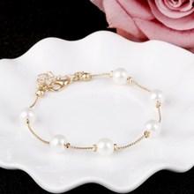 Elegancka bransoletka z perełkami