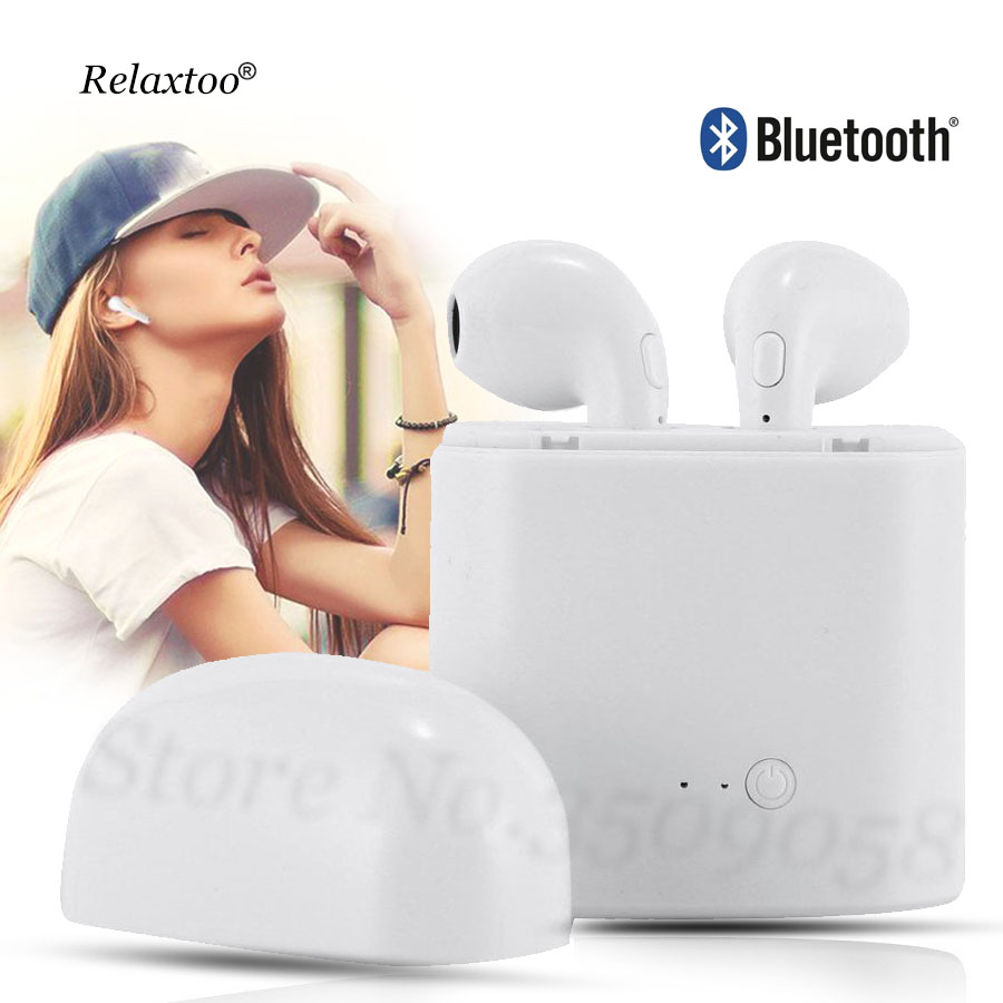 Bluetooth Earbuds Wireless Headphones Headsets Stereo In Ear Earpieces Earphones With Charging Box for Iphone X 8 7 mi8 Android