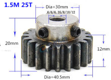 2pcs Spur Gear pinion 1.5M 25T 1.5 mod gear rack 25teeth bore 6-15mm 45teel Ccnc pinion teeth high frequency quenching 4 mod gear rack 27 teeth spur gear precision machinery industry 45 steel cnc rack and pinion frequency hardening