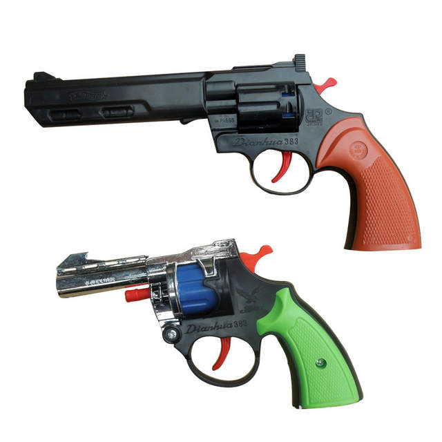 Plastic Revolver toy guns mini airsoft gun pistol air old style bb gun air  8-11 Years kids gun toys red green orbeez