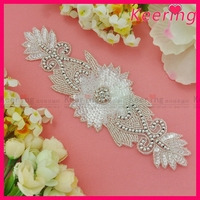 Hot Sale Free Shipping Handmade Crystal Beaded Sequin Applique WRA 531