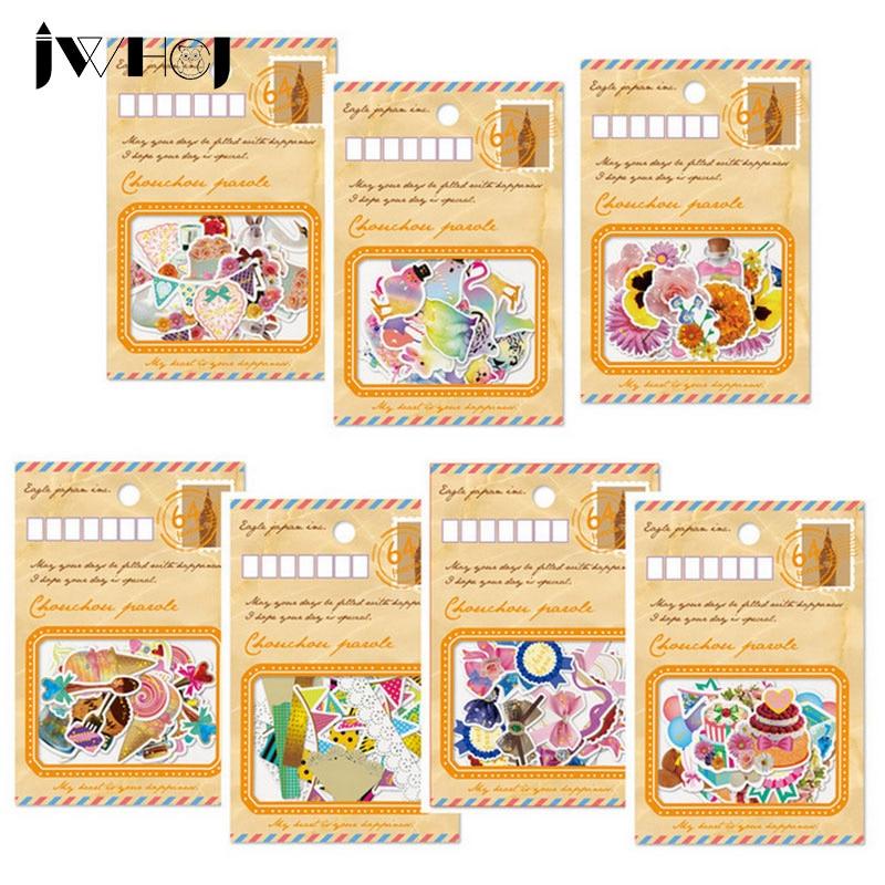 60 pcs/bag JWHCJ gold foil envelope sticker package DIY diary scrapbooking decoration sticker children favorite stationery
