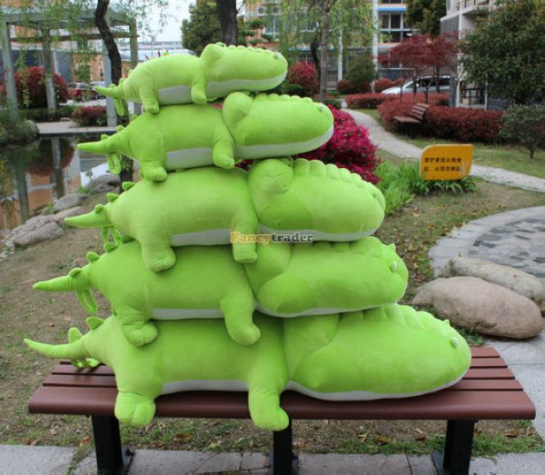 Fancytrader 59'' / 150cm Cute Super Soft Giant Plush Stuffed Cartoon Crocodile Toy, Great Gift For Baby, Free Shipping FT50146 fancytrader 2015 new 31 80cm giant stuffed plush lavender purple hippo toy nice gift for kids free shipping ft50367