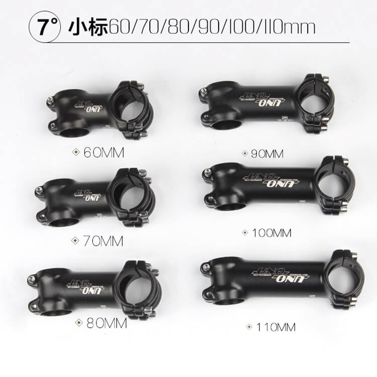 Carbon Aluminum 3K 7° MTB Mountain Road Bike handlebar stems Stem 31.8*60-110mm