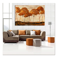 large hand painted Modern Autumn Tree Oil Painting Wall Stickers painting On Canvas Handpainted Scenery Pictures for Home Decor