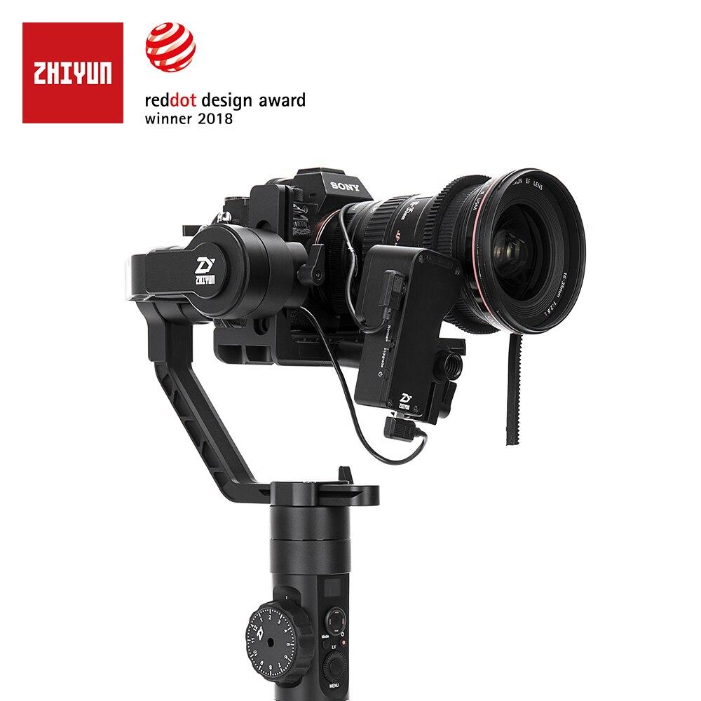 Oficial de ZHIYUN grúa 2 3 eje estabilizador de cámara para DSLR sin espejo cámara Canon Sony P con Servo Follow Focus