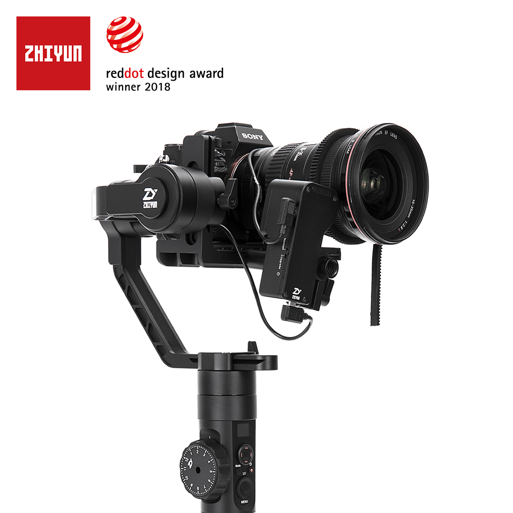 ZHIYUN Offizielle Kran 2 3-Achsen Kamera Stabilisator für DSLR Spiegellose Kamera Canon Sony P mit Servo Folgen Fokus