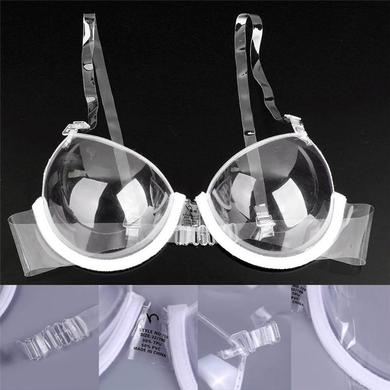 a8584694f2c62 Clear Invisible Bra 3 4 Cup Straps Bra Invisible Convertible Adjustable Plastic  Transparent Bra Backless
