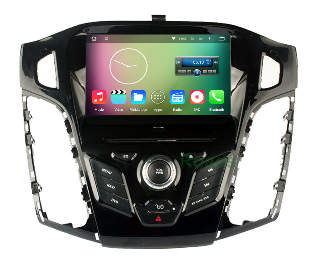 Quad Core 1024 600 Android 5 1 1 Car DVD Player for Ford Focus 3 2012