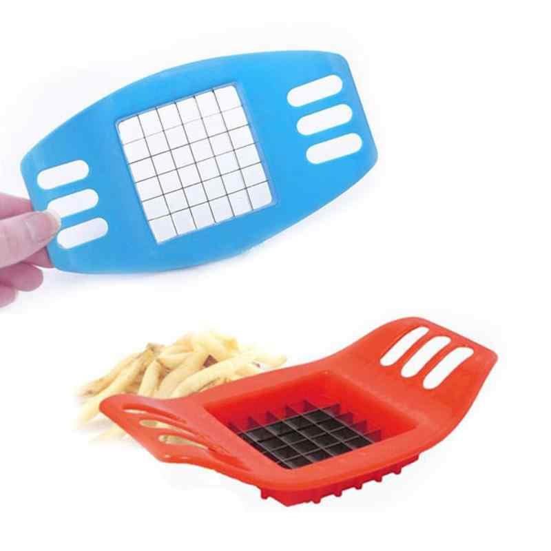 Aço inoxidável francês fritar cortador de batata tomate vegetal slicer chopper cortador de batata fácil corte cebola titular garfo acessórios cozinha