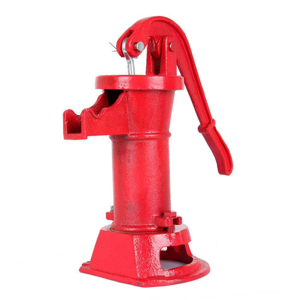 Hand Press Pitcher Pump Cast Iron Well Water Suction Outdoor Yard Garden Farm