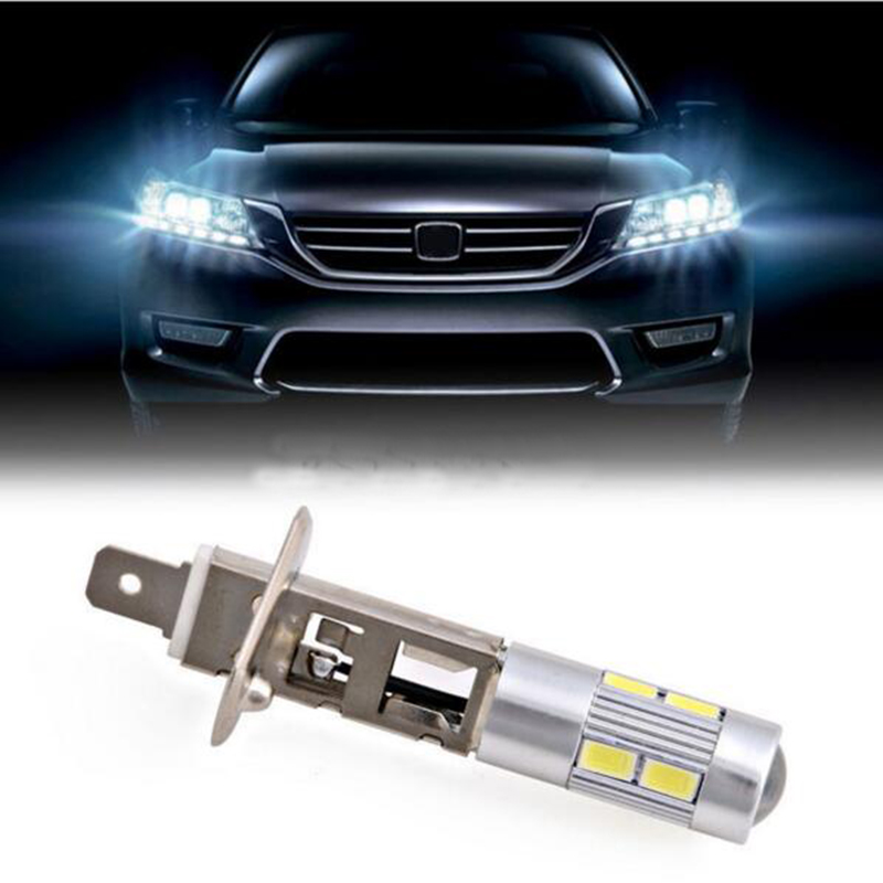 H1 Super Bright White High Power 10-SMD 5630 Auto LED Car Fog Signal Turn Light Driving DRL Bulb Lamp 12V 1pcs car led dc12v h8 fog lamp bright led light bulbs drl 33 5630 smd with lens xenon white ice blue yellow 2z9