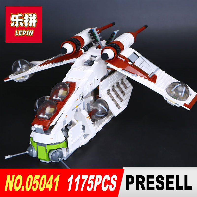 lepin 05041 star wars Coruscant Police Gunship model Building Blocks Bricks toys for boys LegoINGl 75021 toys for Children gift star wars boys black
