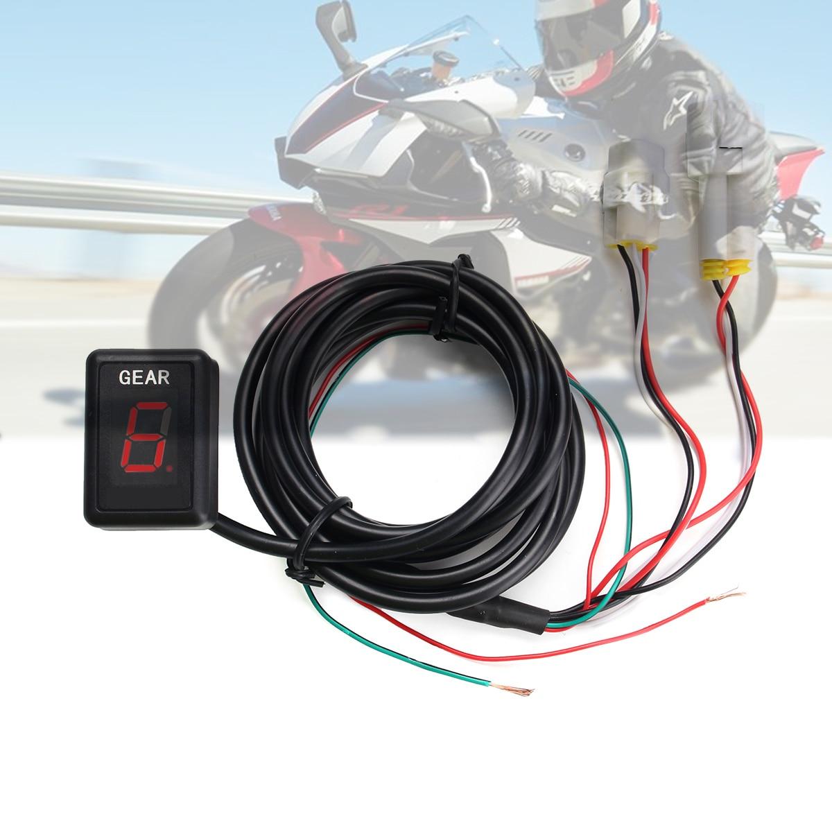 купить Motorcycle 1-6 Speed Gear Indicator Gear Meter Red LED Display for Yamaha YZF-R1 YZF-R6 Xt660 Fz6 Fz-16 Fz1 Fz8 онлайн