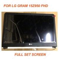 15,6 дюймов Новый для LG ноутбук ЖК экран полный комплект панель с AB крышкой для LG Gram 15Z950 TFT светодиодный экран LP156WF6 SPF1 fhd матрица