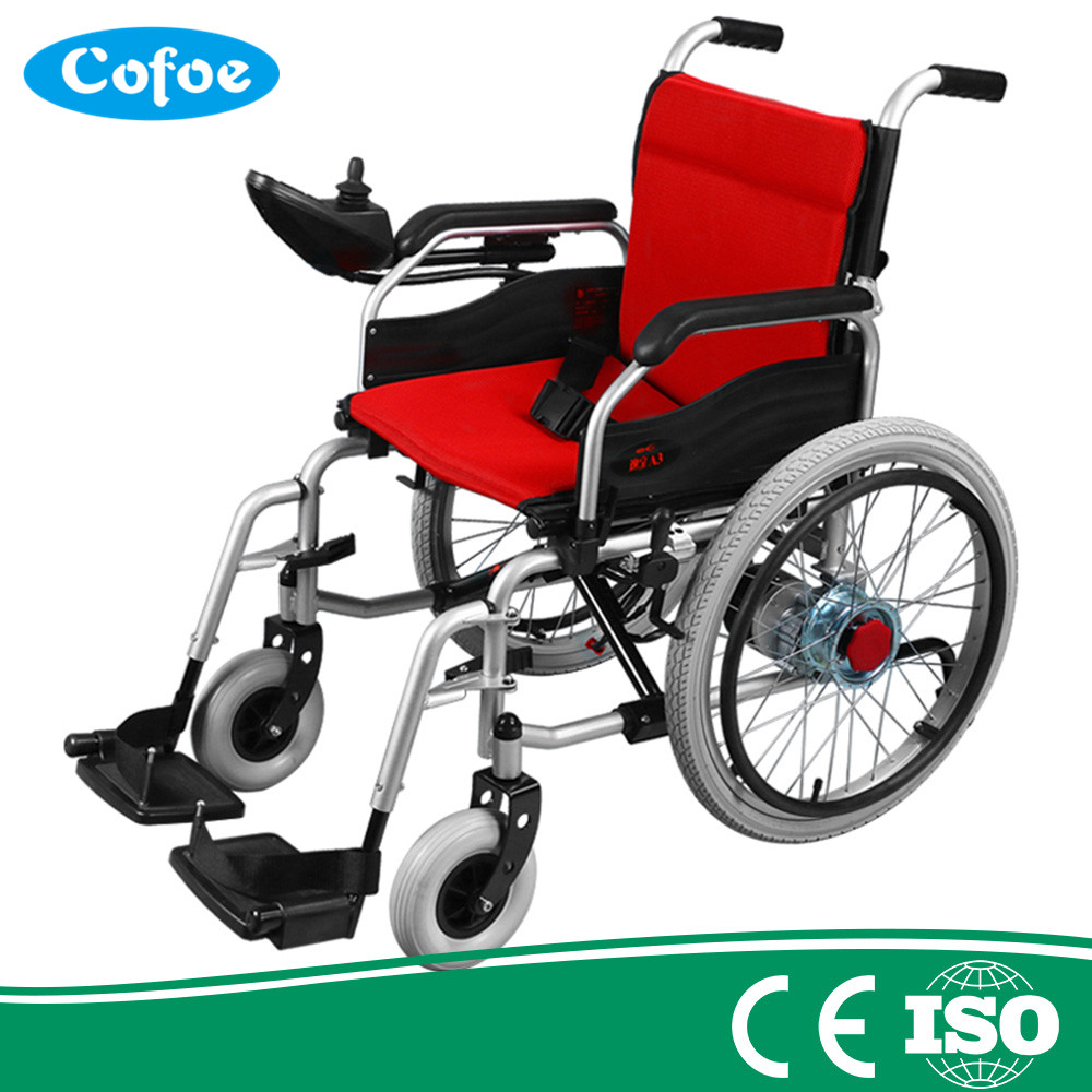 Cofoe Competetive price and high quality Medical equipment  power Folding Portable electric Wheelchair high tech and fashion electric product shell plastic mold