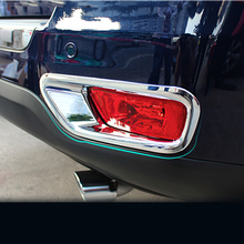 Trim Shell Molding ABS Chrome Car Styling Accessories for Jeep Compass 2011 2012 2013 2014 Rear Fog Light Lamp Cover abs plating body door side molding trim set for jeep grand cherokee 2011 2012 2013 2014 [qpa166]