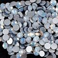 SS6 Strass Opala Branco Unhas Plana Nail Art Strass 1440 PCS Cristal Non Hotfix Strass para Unhas Strass Arte Do Prego MJZ015