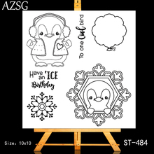AZSG Snowflake Ballon Lovely Penguin Clear Stamps For DIY Scrapbooking/Card Making/Album Decorative Silicone Stamp Crafts