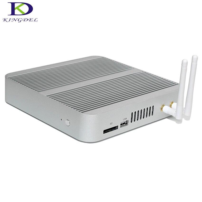 Новый 6th поколения безвентиляторный мини-ПК Core i5 6260U Barebone Windows 10 мини настольных ПК Nettop 4 К VGA HDMI HTPC 300 м Wi-Fi