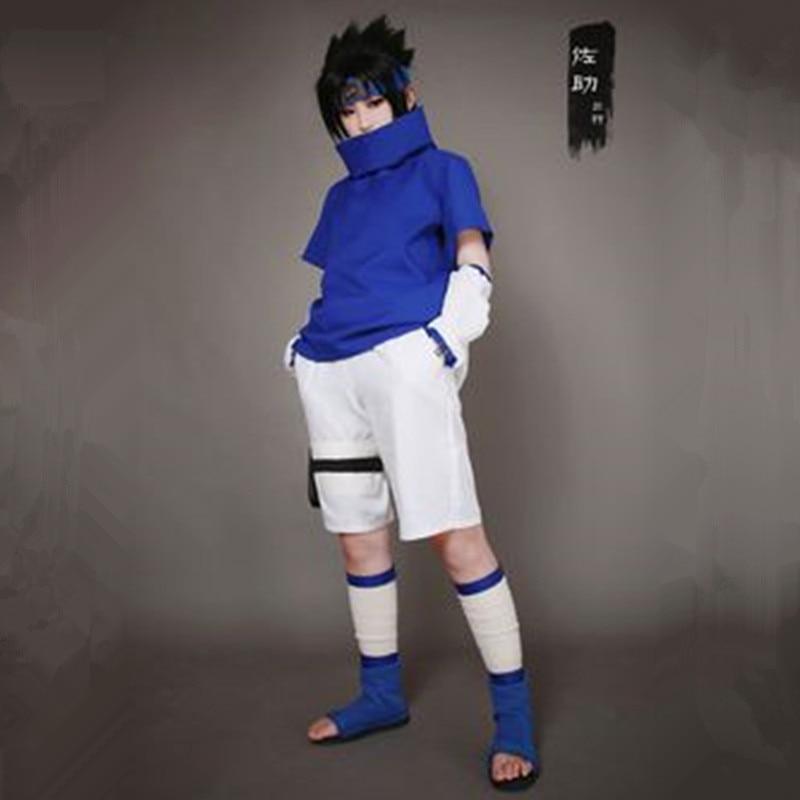 Athemis Naruto Sasuke Uchiha Cosplay Costume and blue ...