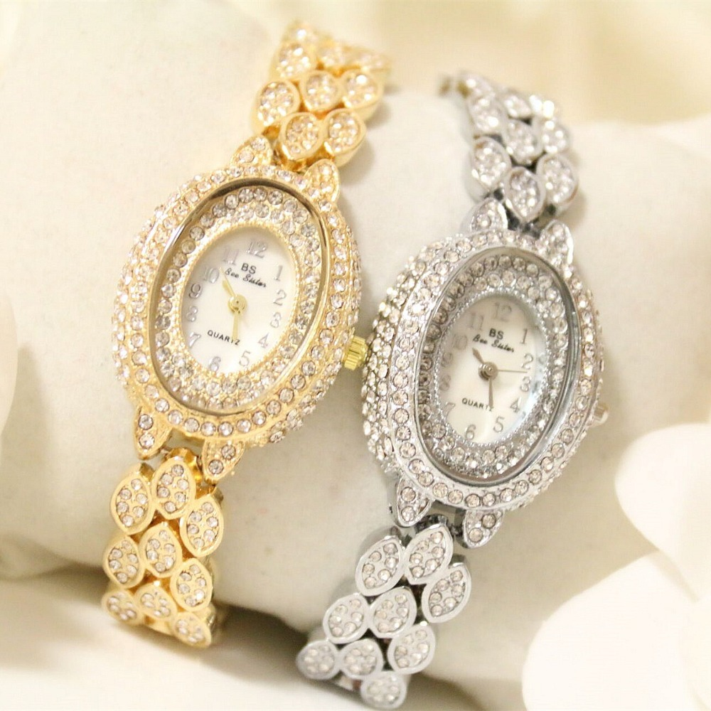 2017 Arrival BS Brand Full Diomand Bracelet Watch Women Luxury Full Austrian Crystals Bracelet Watch Lady Rhinestone Bracelet new arrival grace bs brand full diamond luxury bracelet watch hot sale women 14k austrian crystals watch lady rhinestone bangle