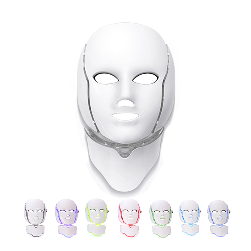 7 Colors Photon Electric LED Facial Mask with Neck Skin Rejuvenation Anti Acne Wrinkle Beauty Treatment Salon Home Use Massage7 Colors Photon Electric LED Facial Mask with Neck Skin Rejuvenation Anti Acne Wrinkle Beauty Treatment Salon Home Use Massage