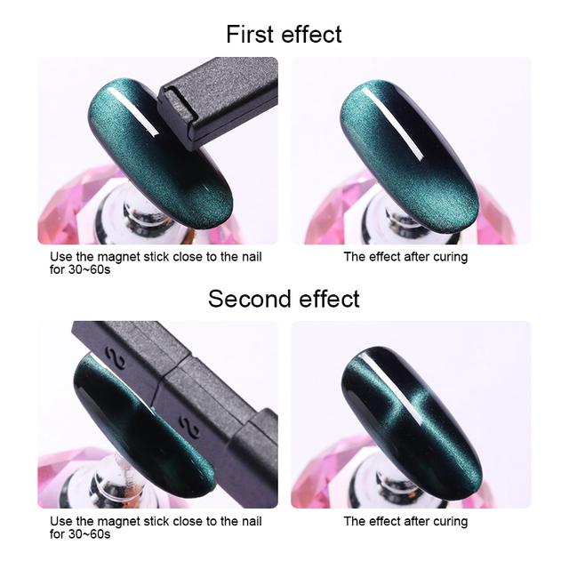 LILYCUTE Gold Multi-Function S shape Double-ended 3D Magnet Stick for Eye Cat  UV Gel