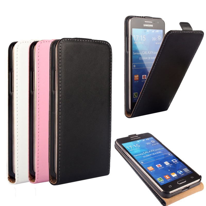 Real Genuine Leather Flip Case Cover For Samsung Galaxy Grand Prime G530 G530H G531 G531H G5309W