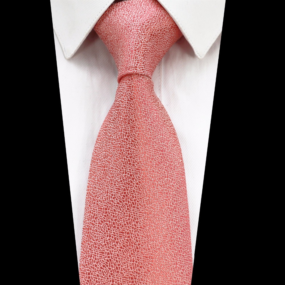GUSLESON Brand New Solid Color Tie Red Gold Gray Green Ties For Men Jacquard Woven Silk Neck Tie Suit For Formal Party Wedding
