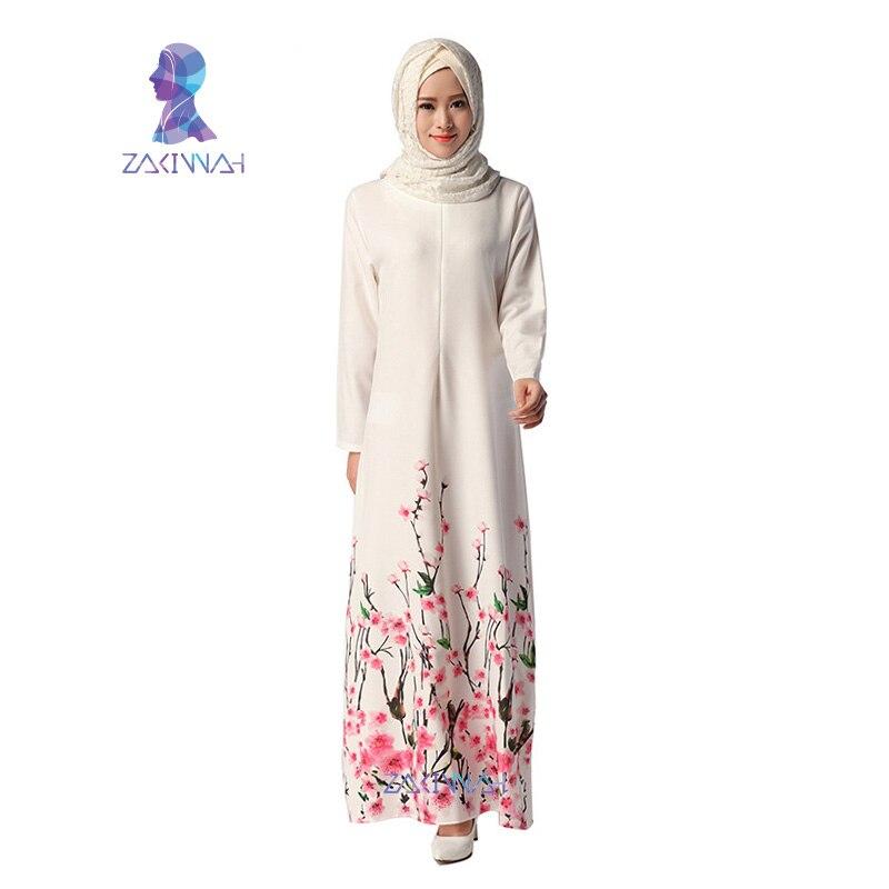 043 Nova Abaya dizajn Elegantna muslimanska duga haljina Cvjetni - Nacionalna odjeća - Foto 3