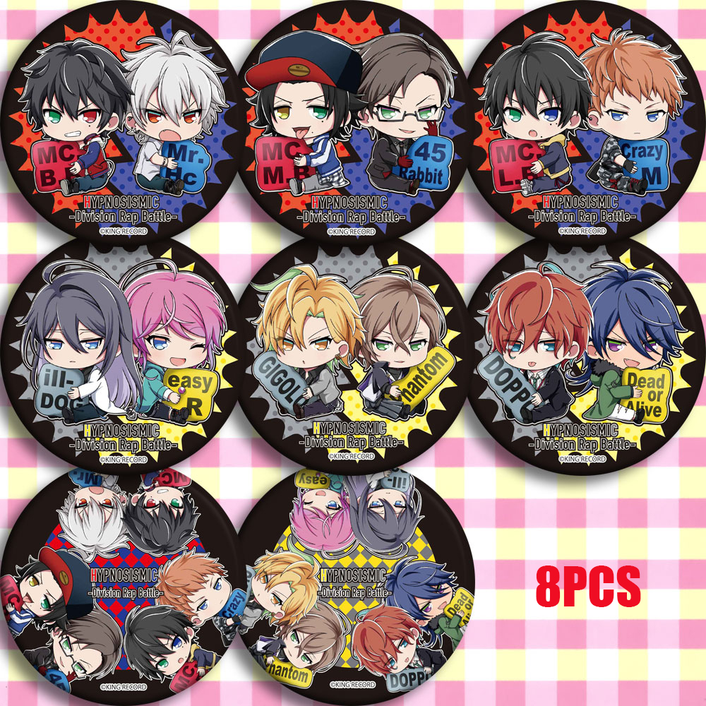 Japan Anime HypnosisMic Division Rap Battle Theme Cosplay Prop Bedge Cartoon Collect Bags Badges For Backpack Button Brooch Pin