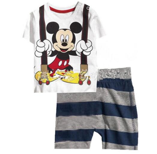 79f832e72 Summer Kids Pajamas Sets Baby Boys Gilrs Sleepwear Short Sleeve ...