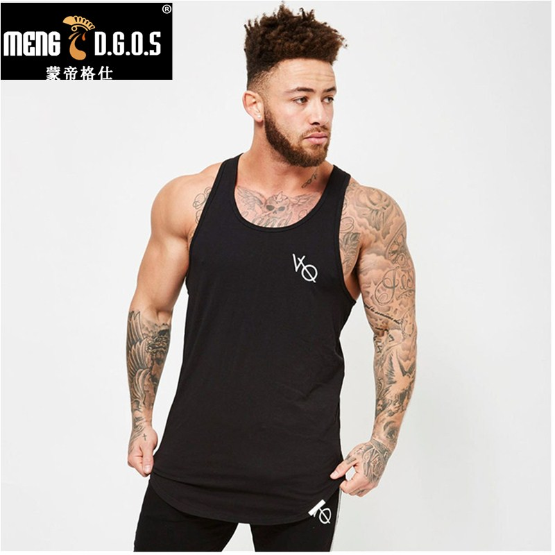 Mens summer Fitness bodybuilding   Tank     Tops   cotton sleeveless shirts workout Undershirt Stringer vest fashion clothing