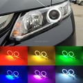For honda civic 2012 2013 2014 9G Excellent Angel Eyes kit Multi-Color Ultrabright 7 Colors RGB LED Angel Eyes Halo Ring